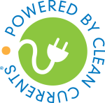 Clean Currents logo illustrates that power sources can be green