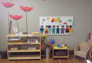 colorful materials and inviting tableaux comprise a TNCS class layout