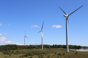 wind turbines at Pennsylvania wind far,