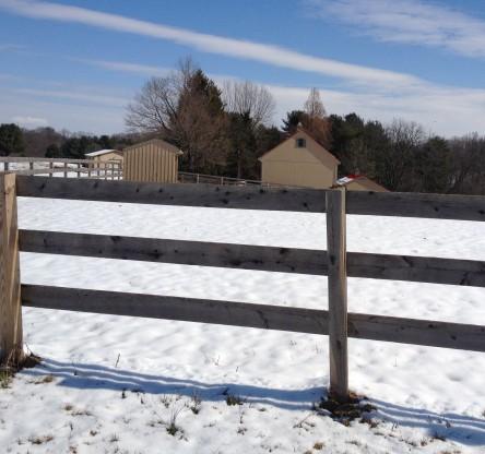 One Straw Farm in winter