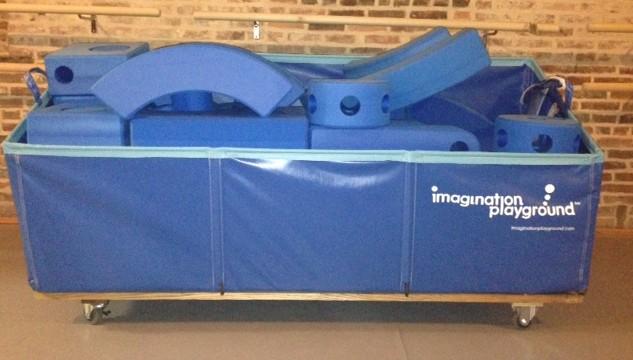 Imagination Playground cart full of blocks