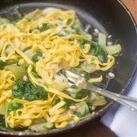 Tagliatelle with swiss chard