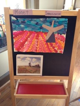 Impressionist windmills