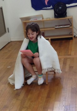 "This budding young actress reads ""Sick"" by Shel Silverstein"