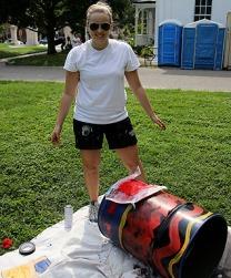 Emily's crab can. Photo credit: Brian Schneider, www.ebrianschneider.com