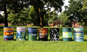 The finished cans. Photo credit: Brian Schneider, www.ebrianschneider.com