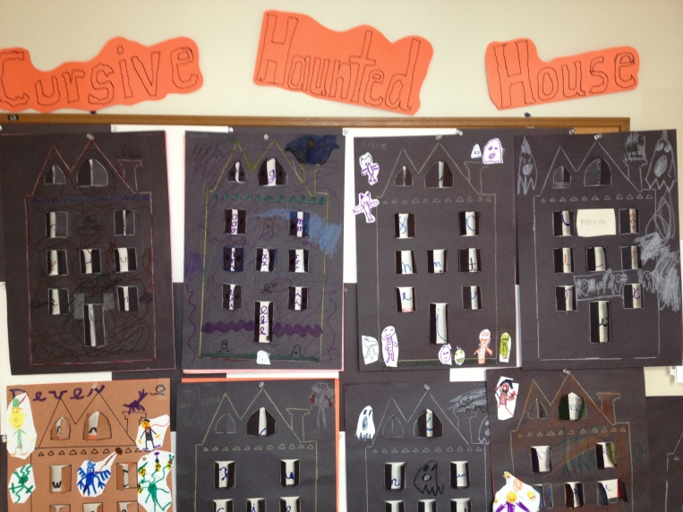 Elementary project combining cursive, art, and fun!