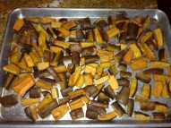 """Cut lengthwise, leave the peels on, and roast with cinnamon and cayenne for delicious, healthy """"fries."""""""