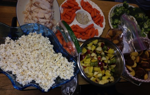 The primary students prepared much of this healthy and yummy feast all by themselves!