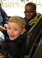 These boys are ready for their trip to The Baltimore Aquarium and The World Trade Center!