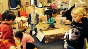 This spaceship workshop is a hive of activity on Mission Days.