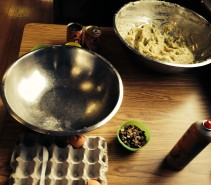 Here is the mise en place for dumpling making!