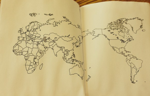 Students will color in the countries they visit and map their incredible journeys in their passport books!