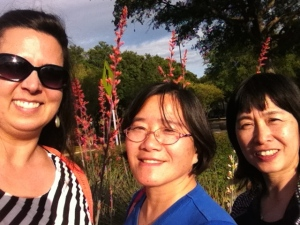 Our TNCS representatives at the Startalk conference---Admissions Director Robin Munro, Xie Laoshi, and Lin Laoshi--take a selfie!