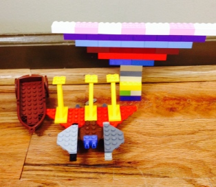 An entire tableau! Bridge, boat, and boat launcher!