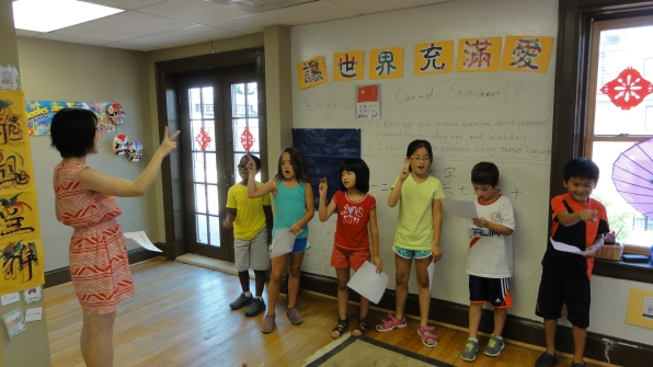 Practice, practice! Performance is a great confidence-builder and gets the campers communicating in Chinese.