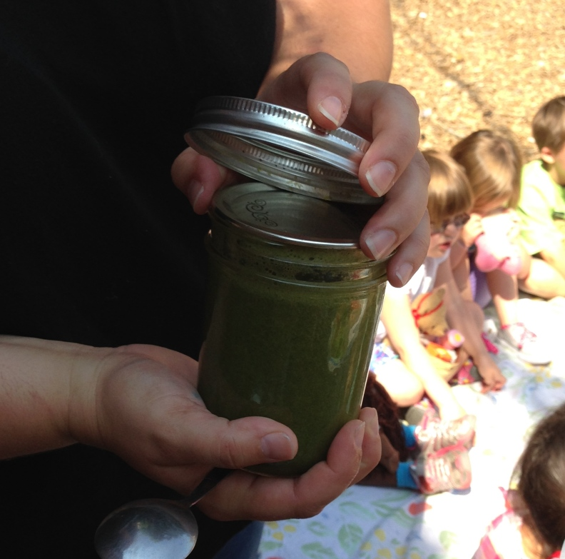 Campers made peppermint banana dressing, a recipe of their own devising!