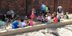 Mrs. Reynolds' and Mrs. Lazarony's campers joined forces for the Teddy Bear Picnic.