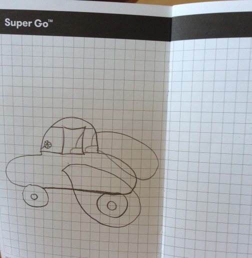 """This journal drawing represents the direction one inventor plans to take to allow her vehicle to """"swim"""" out of water onto land . . . like an amphibian!"""