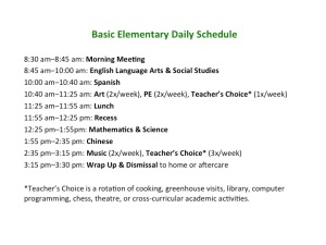 A day in the life of a TNCS elementary student. Looks pretty engaging!