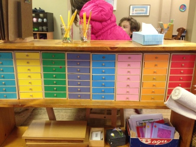 These colorful and enticing Language Drawers practically lure students into learning to read (each contains an object and a card with the object's spelling).
