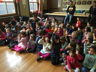 The kids asked some really great questions, and we found out that many of them played instruments!